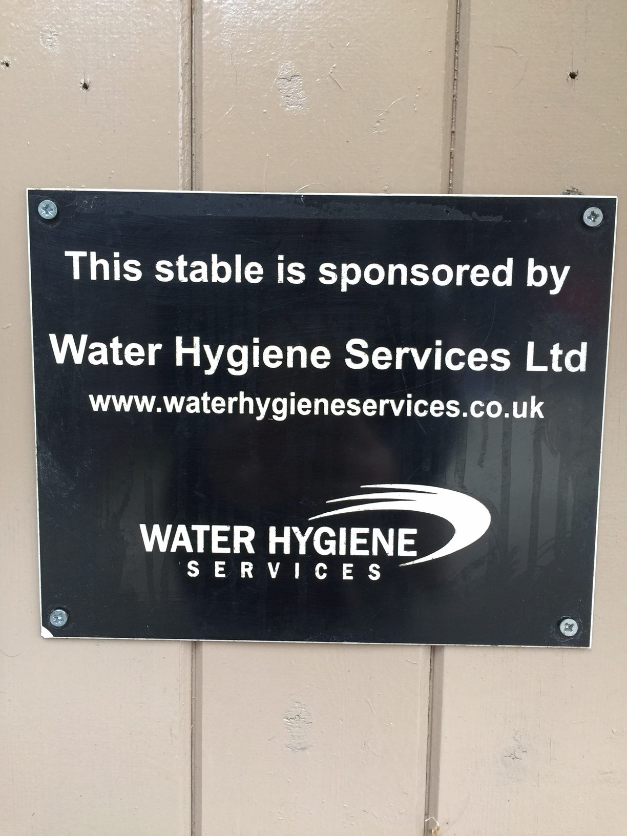 Hope Pastures sponsored by Water Hygiene Services
