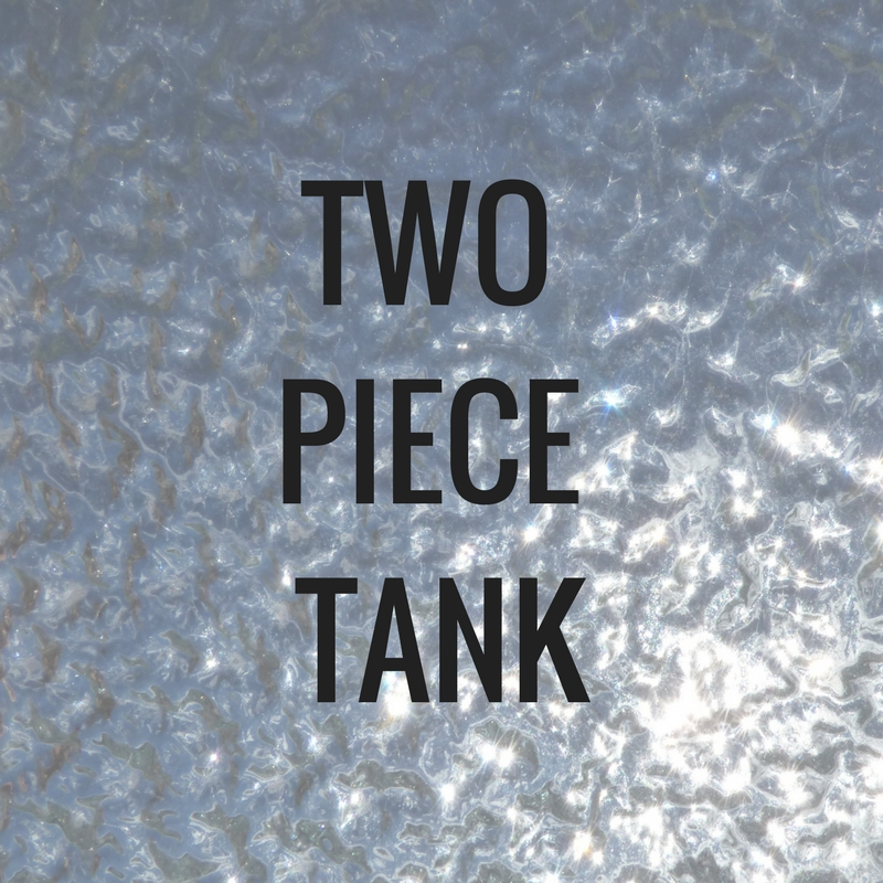 two piece water tank