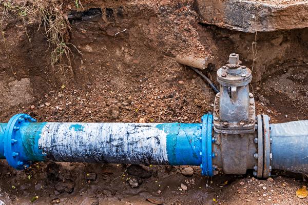 mains chlorination pipes