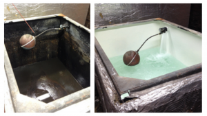 Tank cleaning and disinfection