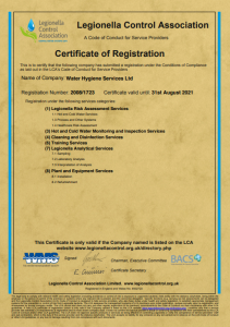 LCA Certificate